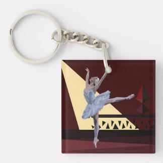 'Swan Lake Ballerina' Key Ring