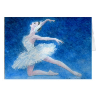 Swan Lake Ballet Greeting Card