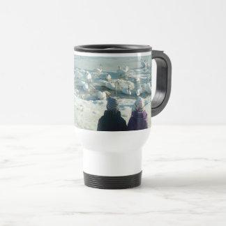 Swan Lake Beautiful Elegant Snow Frozen Winter Travel Mug