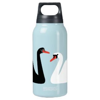Swan Lake Black and White Water Bottle
