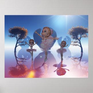 Swan Lake , Cute Ballet Dancer Poster