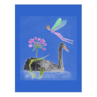 "swan lake elve """"Butomus umbellatus"" Postcard"