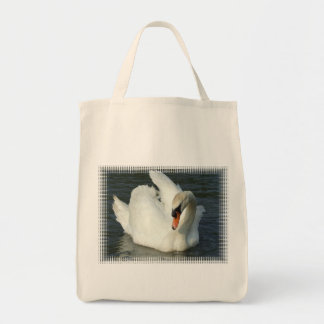 Swan Lake Grocery Tote Canvas Bags