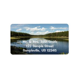 Swan Lake II at Grand Teton National Park Address Label