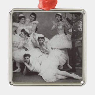 Swan Lake, Mariinsky Theatre, 1895 (b/w photo) Christmas Ornament