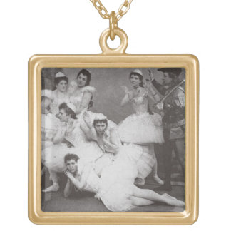 Swan Lake, Mariinsky Theatre, 1895 (b/w photo) Gold Plated Necklace