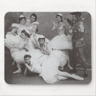 Swan Lake, Mariinsky Theatre, 1895 (b/w photo) Mouse Pad