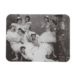 Swan Lake, Mariinsky Theatre, 1895 (b/w photo) Rectangular Photo Magnet
