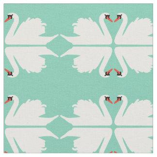 Swan Lake Mirror image Fabric