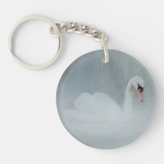 SWAN LAKE MISTY BLUE KEY RING