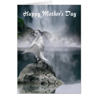 Swan Lake Mother's Day card