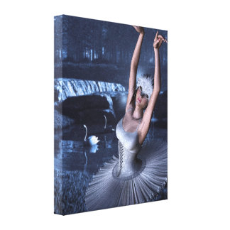 Swan Lake - Odette and Swans Canvas Print