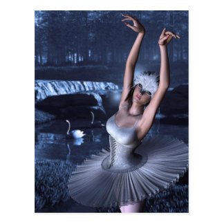Swan Lake - Odette and Swans Postcard