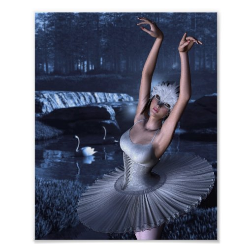 Swan Lake - Odette and Swans Print