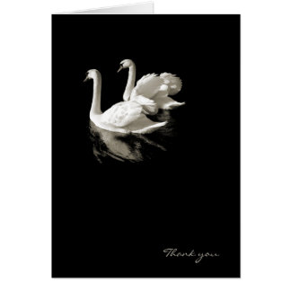 Swan Lake romantic card