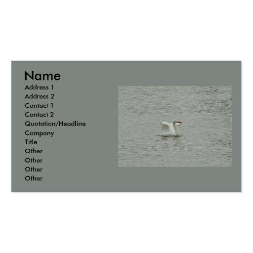 Swan- lifting wings business card