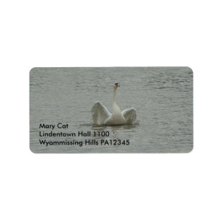 Swan-lifting wings label