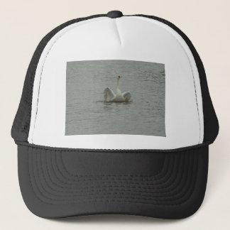 Swan-lifting wings trucker hat