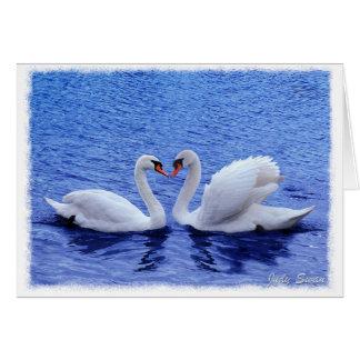 swan love card