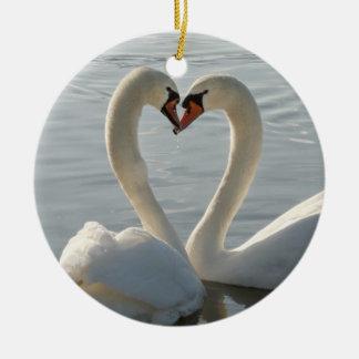 Swan Love Christmas Ornament