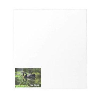 Swan Love Notepad