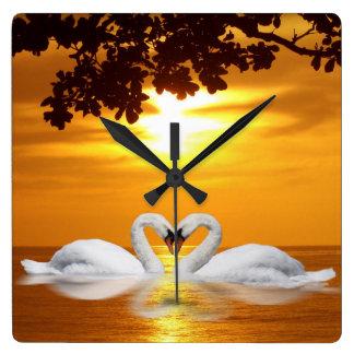Swan love wallclock