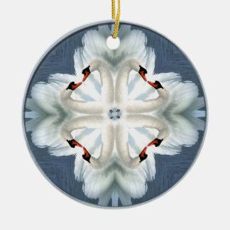 Swan Mandala Christmas Ornament