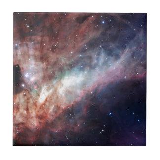 Swan Nebula Small Square Tile