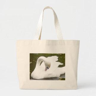 Swan of the Lake Tote Bags
