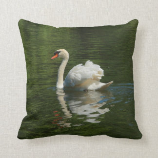swan on lake cushion