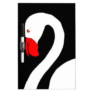 swan on lake Dry-Erase whiteboard