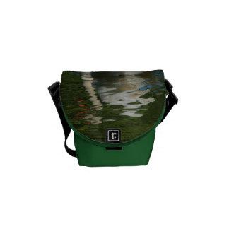 swan on lake courier bag