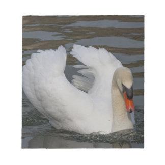 swan on lake notepad