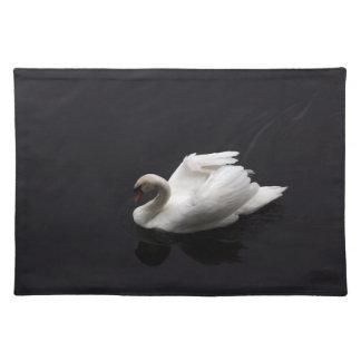 Swan on lake placemat