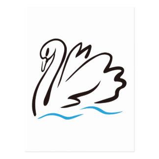 Swan Outline Postcard