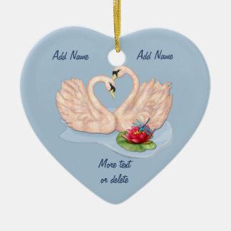Swan Pair - Customize Christmas Ornament