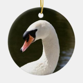 Swan Portrait Christmas Ornament