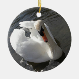 Swan Posing Christmas Ornament