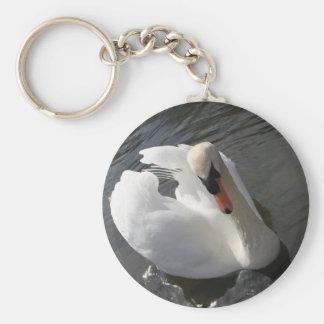 Swan Posing Key Ring