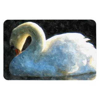 Swan Vinyl Magnets