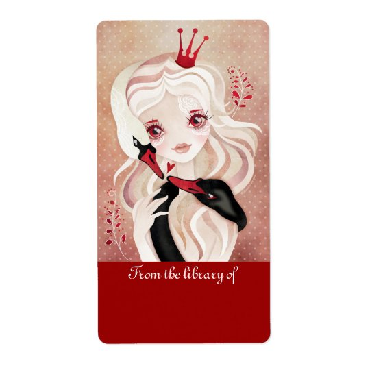 Swan Princess Bookplates Labels Stickers