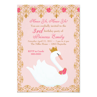 Swan Princess Invitation