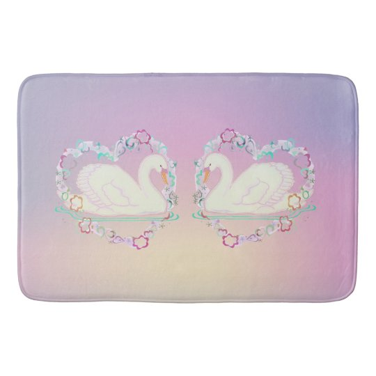 Swan Princess (lilac) bath mat