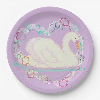Swan Princess paper plate