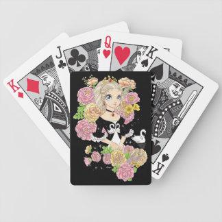 Swan Princess playing cards (black)