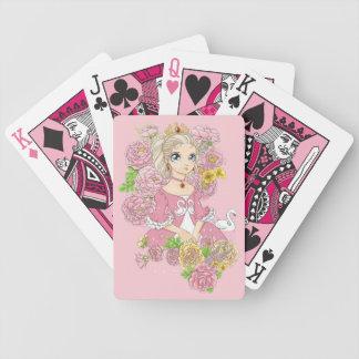 Swan Princess playing cards (pink)