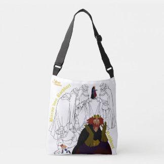 Swan Princess Two-Sided Cross Body Bag(White) Crossbody Bag