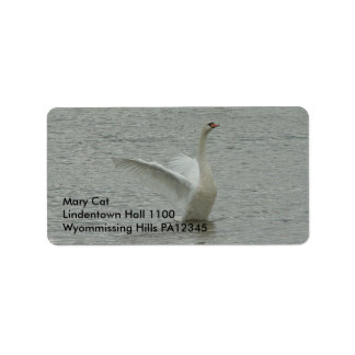 Swan-ready to fly label