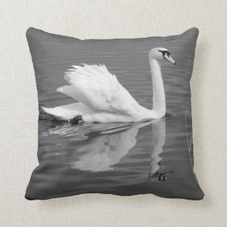 Swan Reflected throw cushion