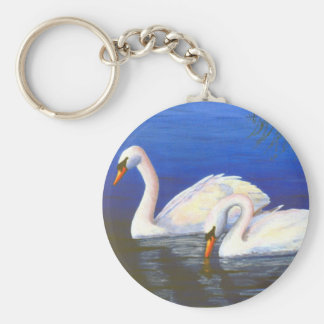 Swan Reflections Keychain